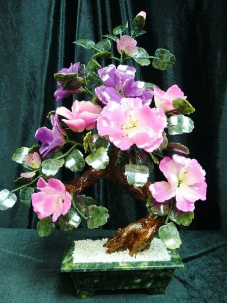 Цветы из нефрита, художественная резьба 2